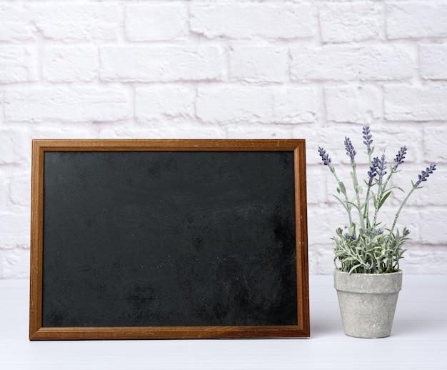 Empty wood frame