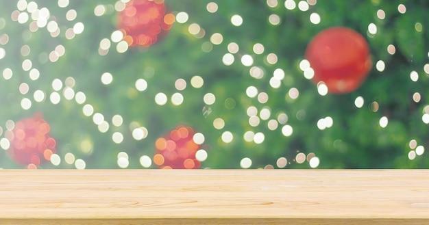크리스마스 트리 상단 빈 나무 테이블