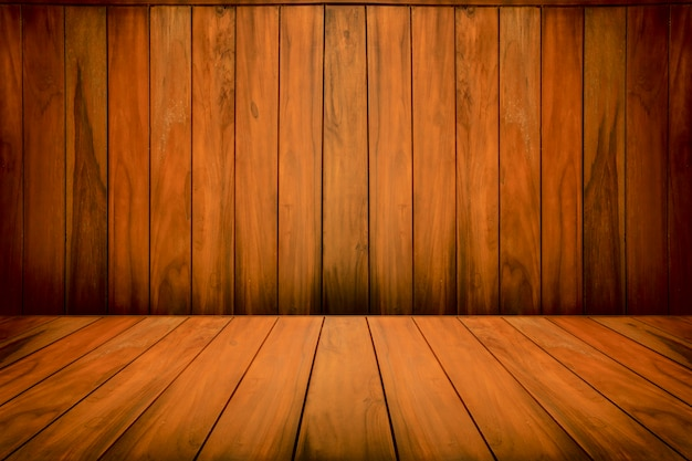 Empty wooden background for design template