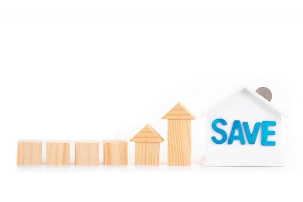 Пустые деревянные блоки и сохранить слово на дом