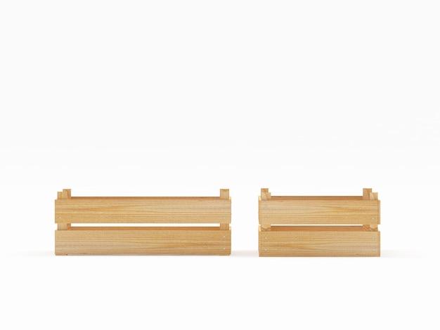 Пустые деревянные ящики Premium Фотографии