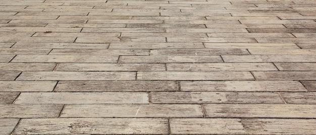 白い背景で隔離の空の木製の床