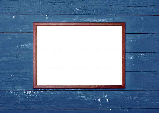 Empty wooden frame for photo