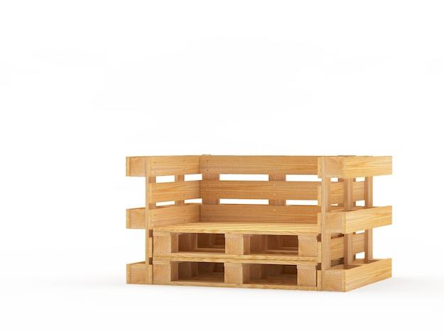 Пустой деревянный стул из поддонов Premium Фотографии