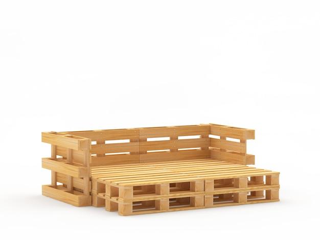 空の木製パレット椅子