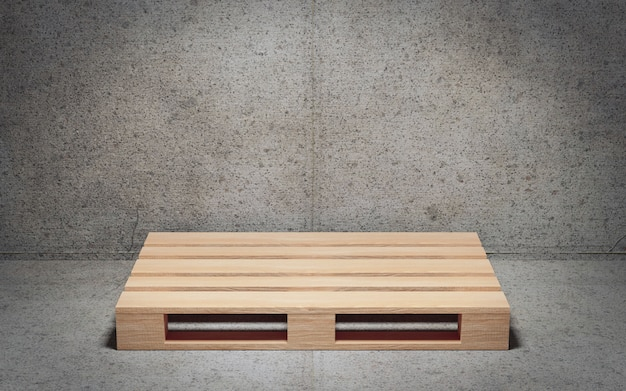 Empty wooden pallet