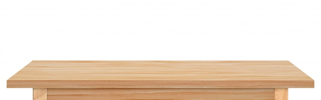 Пустой деревянный стол