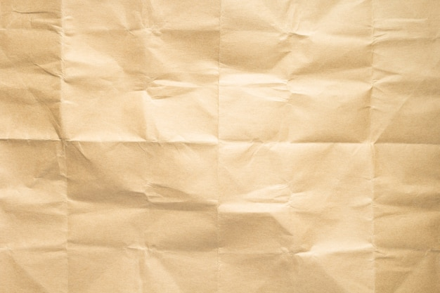 Empty wrinkled paper as  background texture
