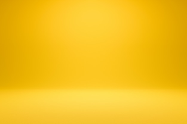 Empty yellow background and spotlight. realistic 3d render.