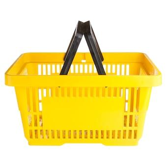 Пустая желтая корзина для покупок