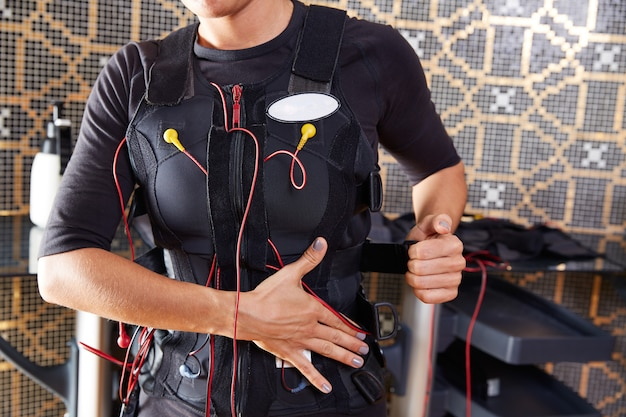 Ems electro stimulation suit woman