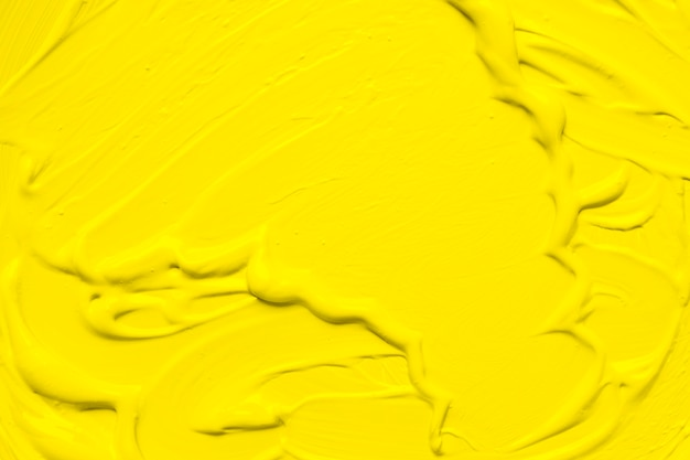 Emulsion of yellow smooth paint