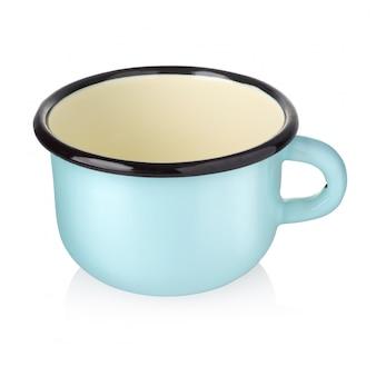 白のエナメルカップ