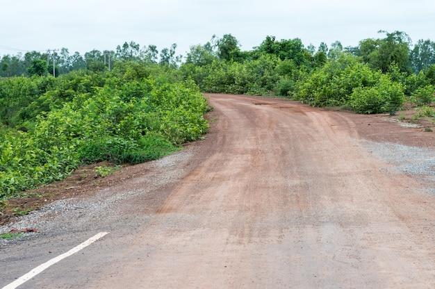 End of the asphalt road