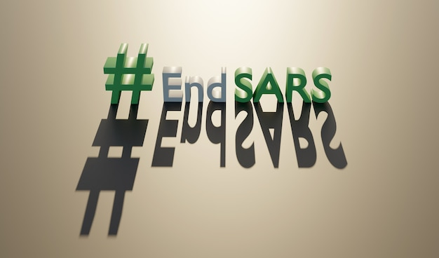 End sars in flat style. police violence. stop violence. police brutality. no justice no peace.