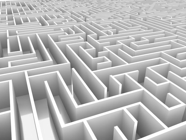 無限の迷路3dイラスト
