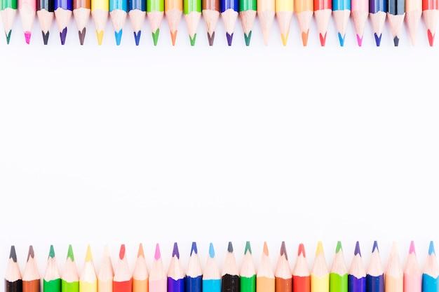 Концы цветных карандашей