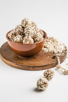 Energy balls of nuts oats and dates