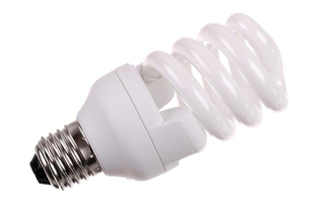 Energy saving bulb isolated on white