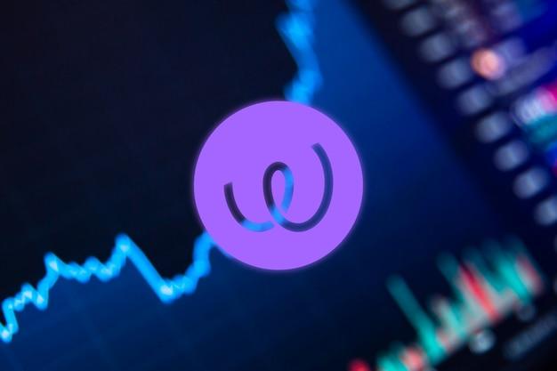 График роста криптовалюты energy web token ewt на биржевом графике