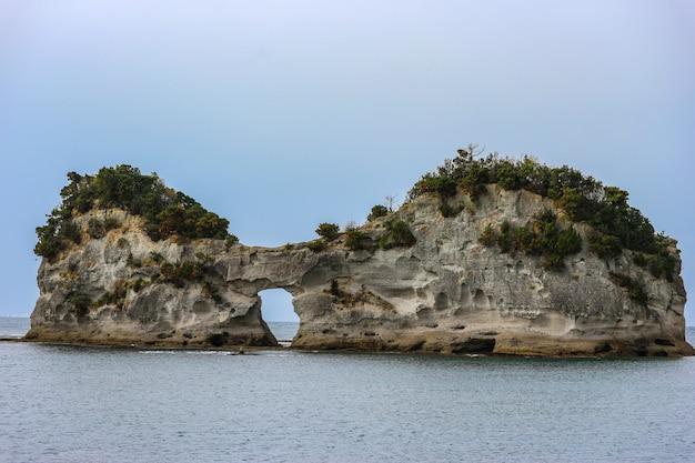 A engetsuto island like a eyes glass shape at shirahama wakayama japan.