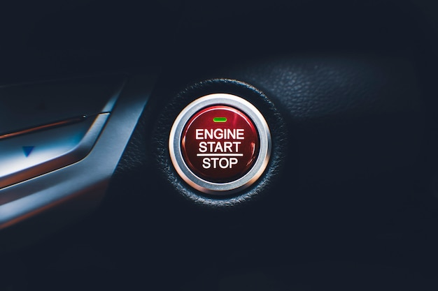 Кнопка запуска двигателя и остановки автомобильной системы бесключевого доступа в автомобиль
