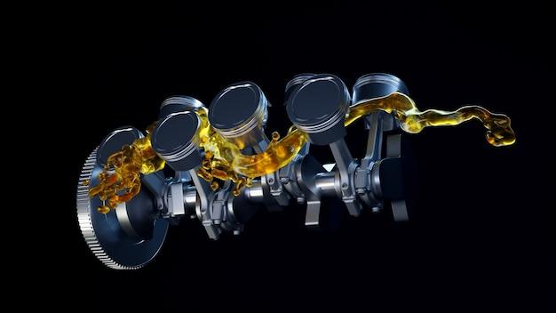 수리시 윤활유가있는 엔진