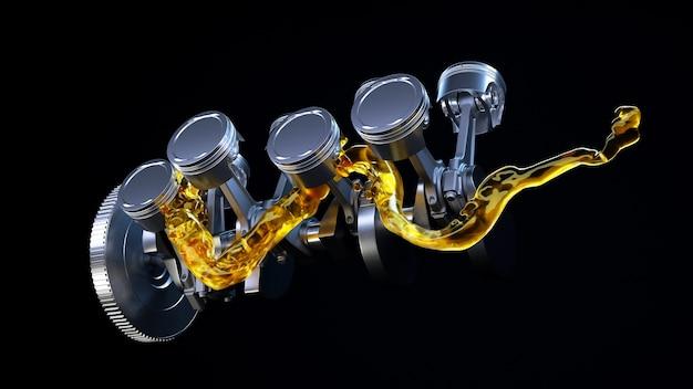 Двигатель со смазочным маслом на ремонте