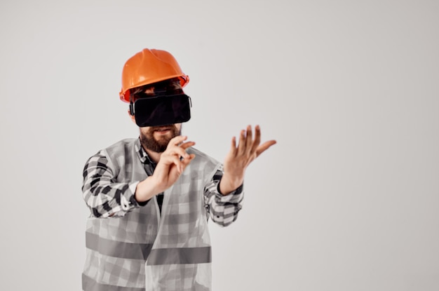 Engineer construction work technique design isolated background
