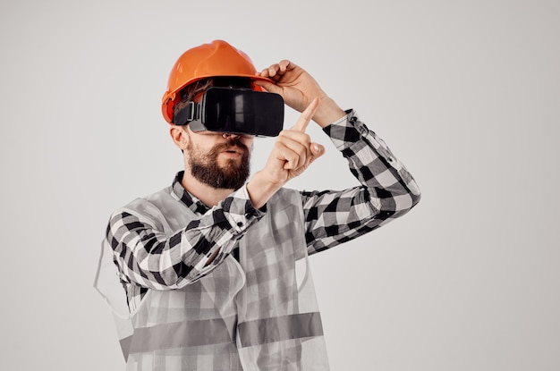 Engineer construction work technique design light background. high quality photo