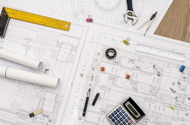 エンジニアプロジェクトとその上のさまざまなツール、クローズアップ