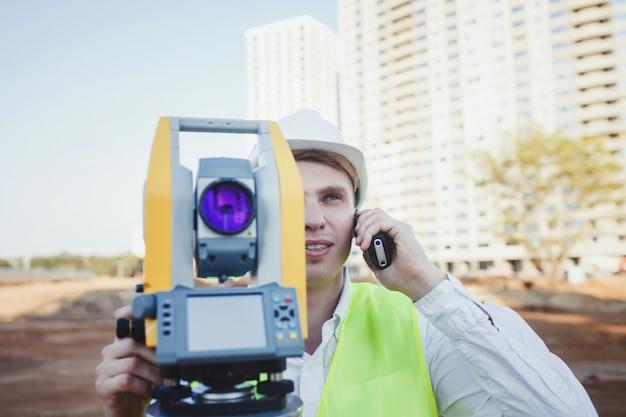 Engineer surveyor with radio