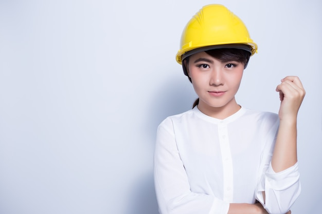 Engineer woman posing