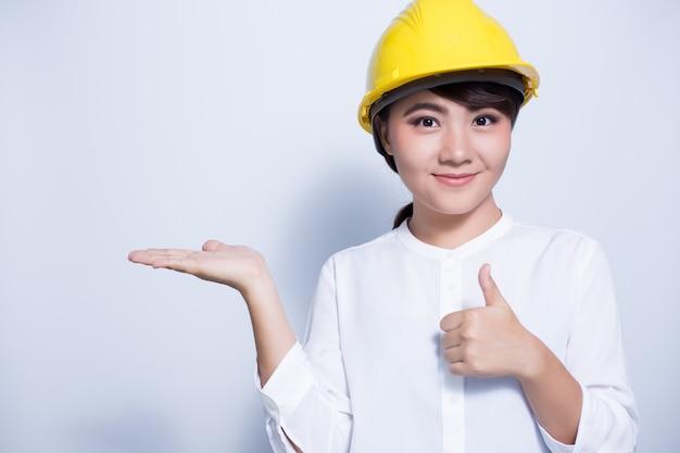 Engineer woman posing