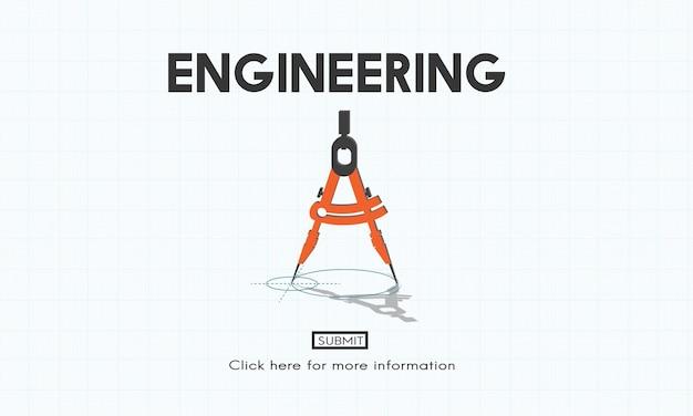 엔지니어링 아이디어 만들기 직업 전문 개념