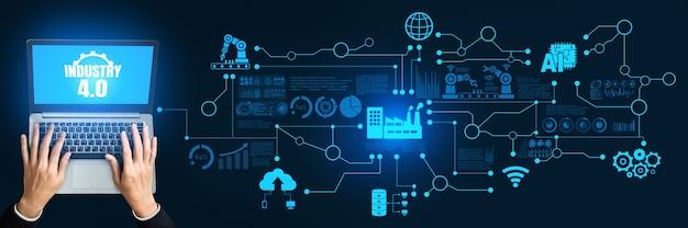 エンジニアリングテクノロジーとインダストリー4.0スマートファクトリーコンセプト