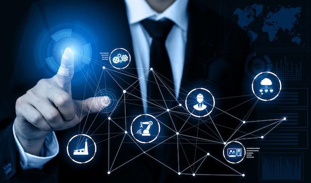 엔지니어링 기술 및 산업 스마트 팩토리 개념