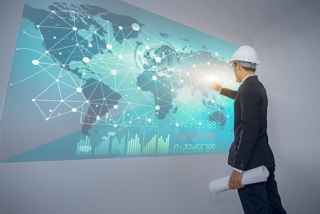 Инженеры планируют подключить международную инфраструктуру на большом цифровом экране.