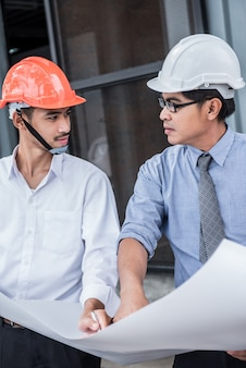Engineers and teamwork, meeting for successful project construction