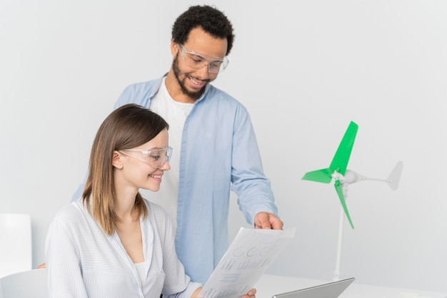 Engineers working on energy innovations