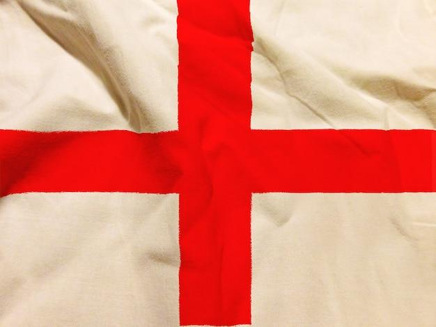 Bandiera dell'inghilterra con texture sullo sfondo