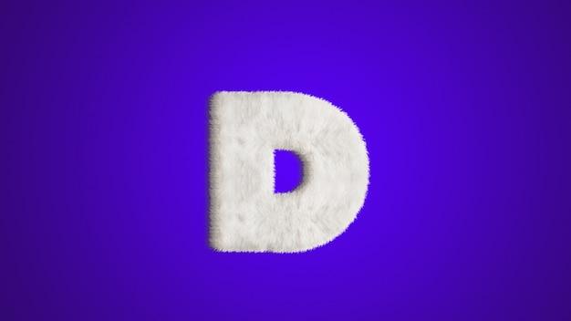 English alphabet ,design style fur or hair