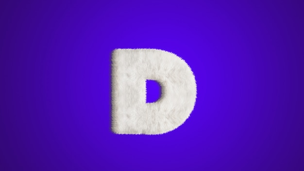 English alphabet, design style fur or hair