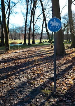 English garden, path reserved for the transit of horses