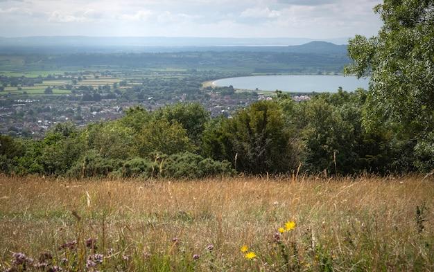 チェダー渓谷の英語の風景