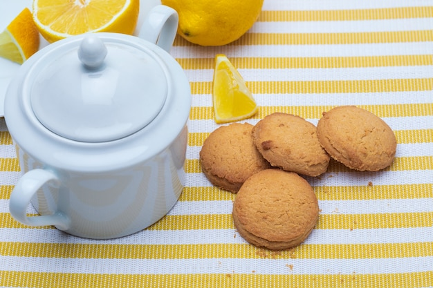 English lemon pasta. traditional home cooking.