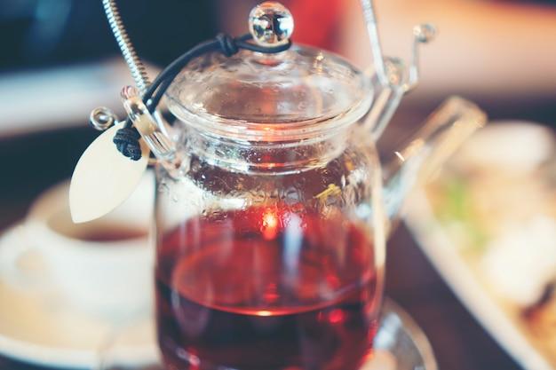 English tea in cafe