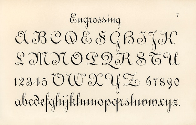 Engrossing fonts