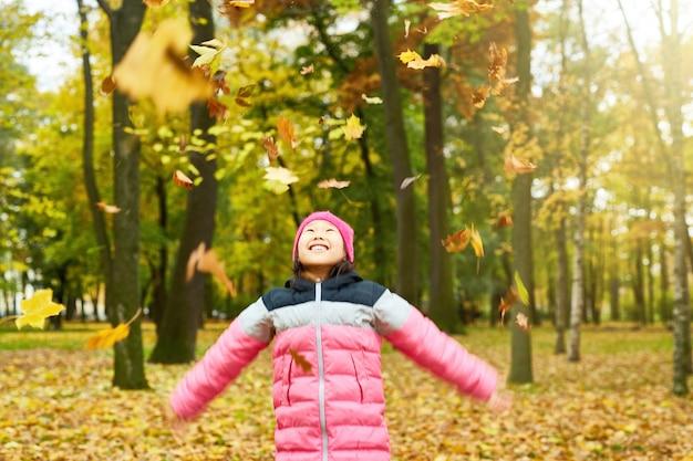 Enjoying fall in autumn