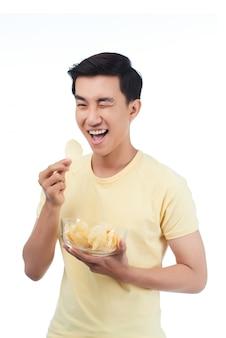 Enjoying snacks